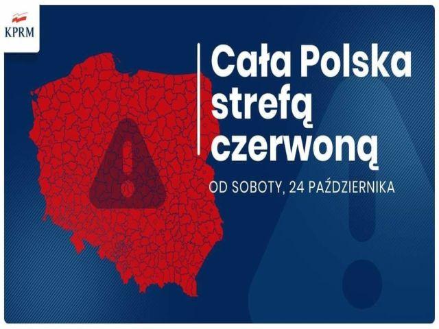 Ilustracja do informacji: CAŁA POLSKA W CZERWONEJ STREFIE - KOLEJNE ZASADY BEZPIECZEŃSTWA