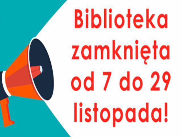 Ilustracja do informacji: ZAMKNIĘTE BIBLIOTEKI