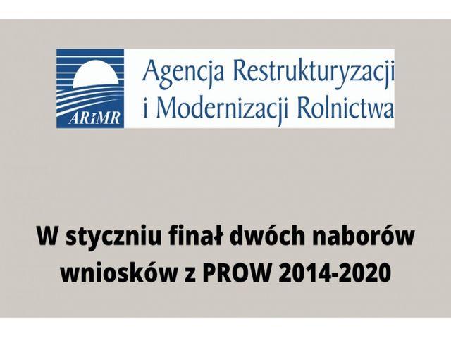 Ilustracja do informacji: W STYCZNIU FINAŁ DWÓCH NABORÓW WNIOSKÓW Z PROW 2014-2020