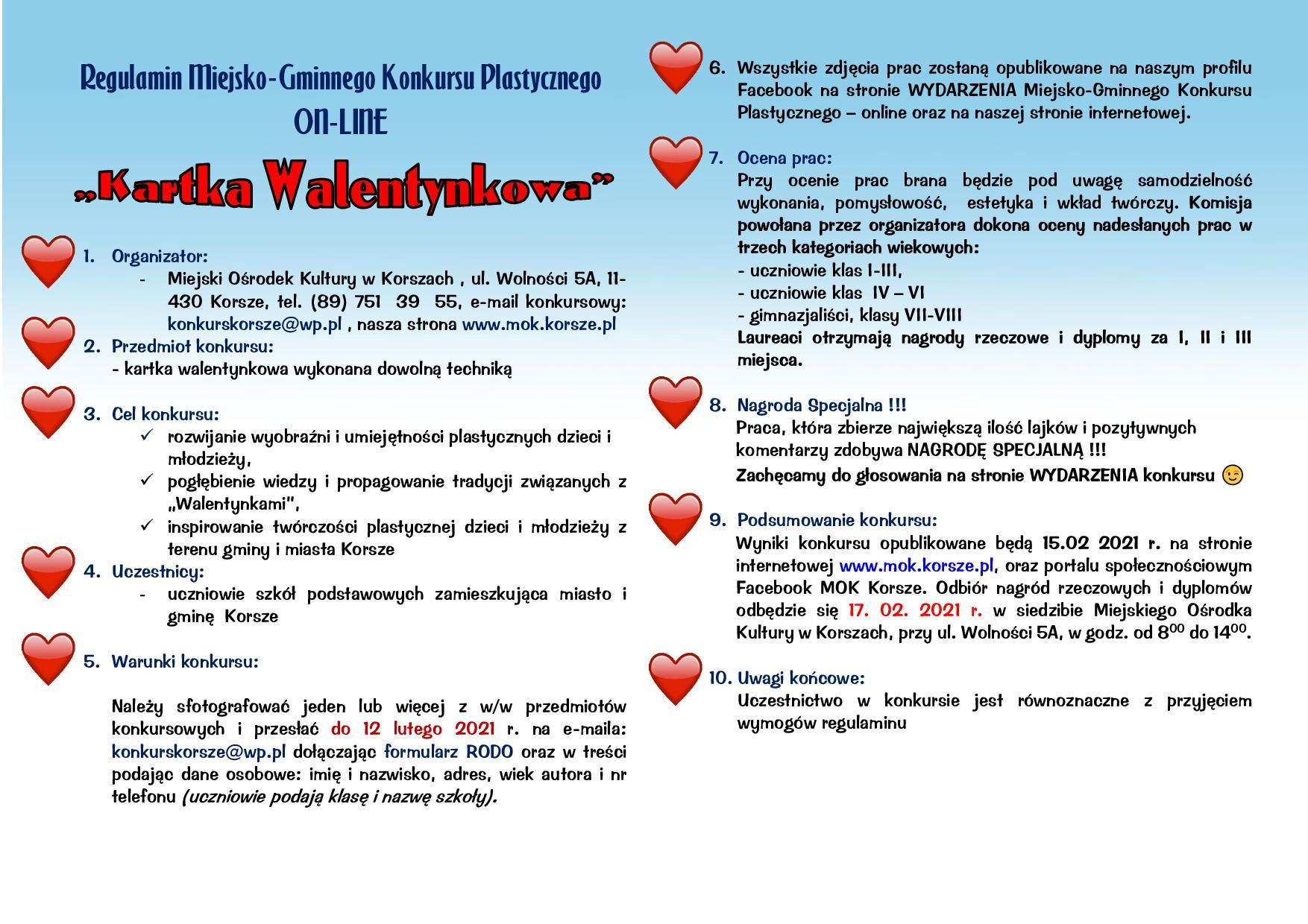 Ilustracja do informacji: KONKURS KARTKA WALENTYNKOWA