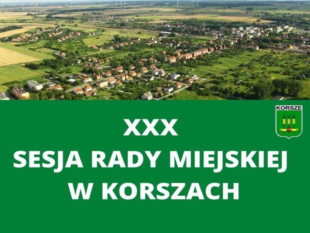 Ilustracja do informacji: XXX SESJA RADY MIEJSKIEJ W KORSZACH