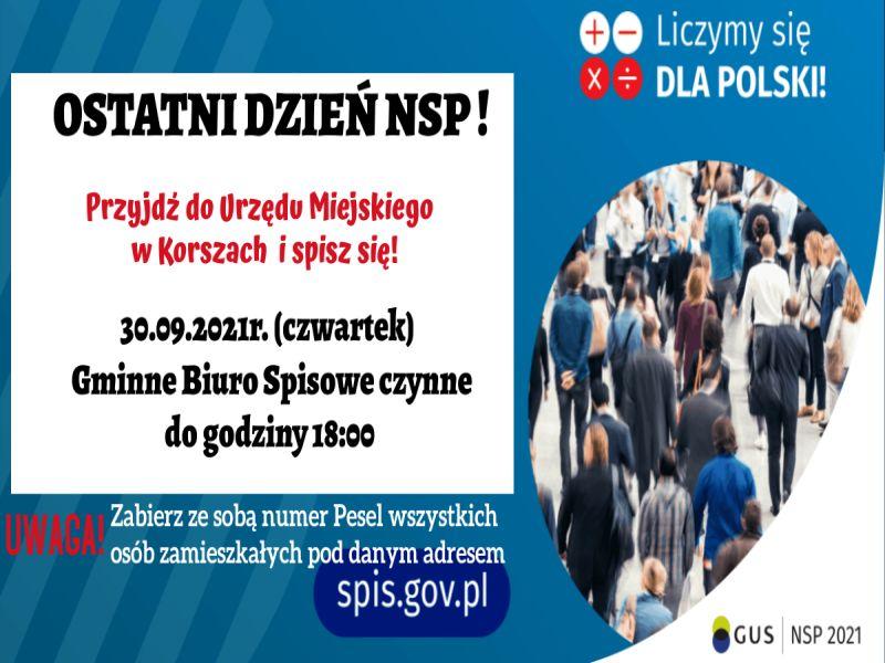 Ilustracja do informacji: OSTATNI DZIEŃ NSP 2021!