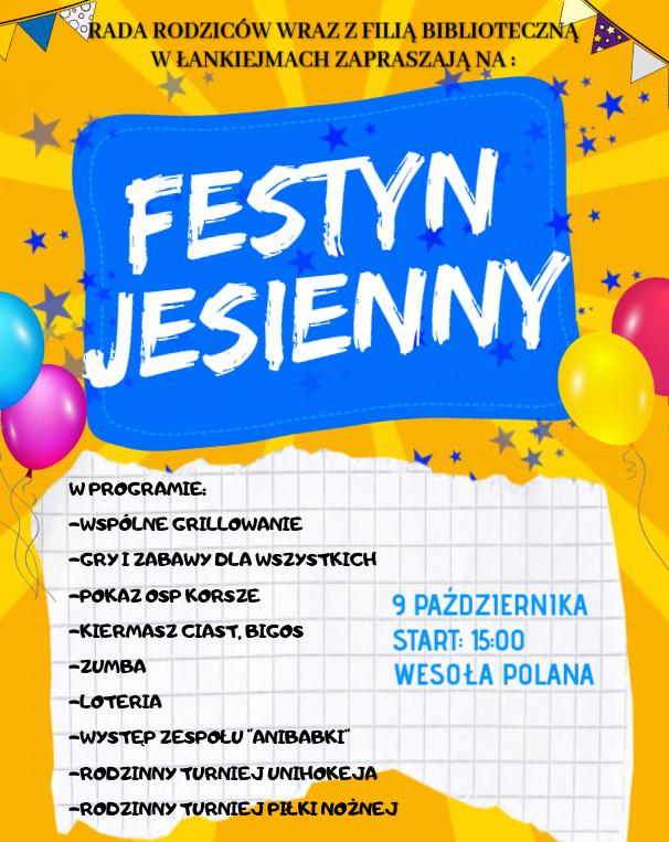 Ilustracja do informacji: FESTYN JESIENNY W ŁANKIEJMACH