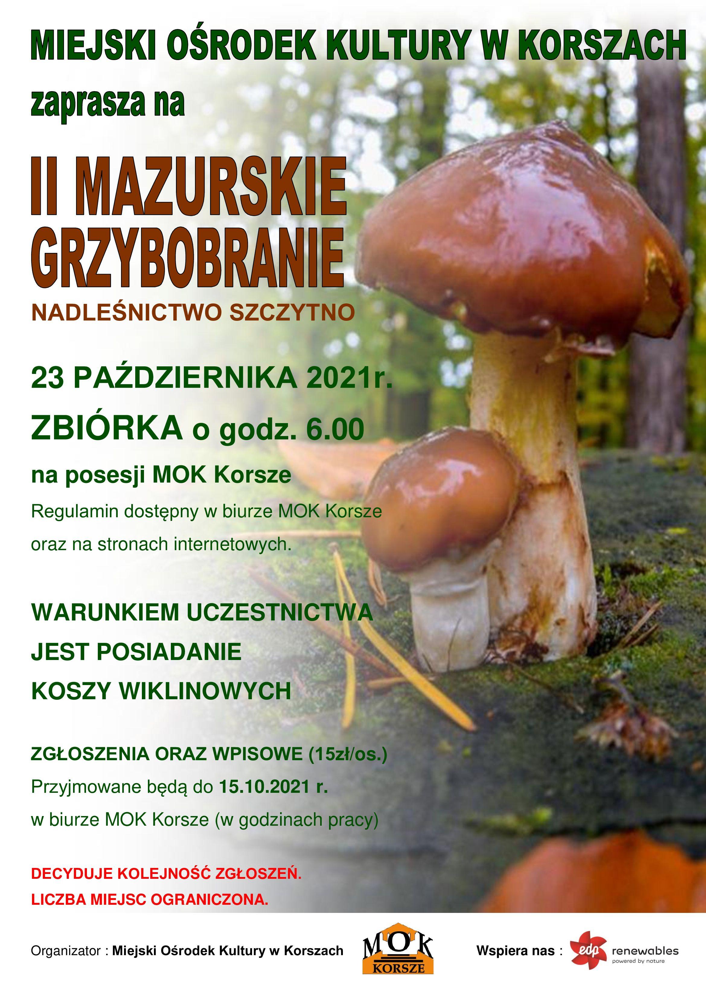 Ilustracja do informacji: II MAZURSKIE GRZYBOBRANIE