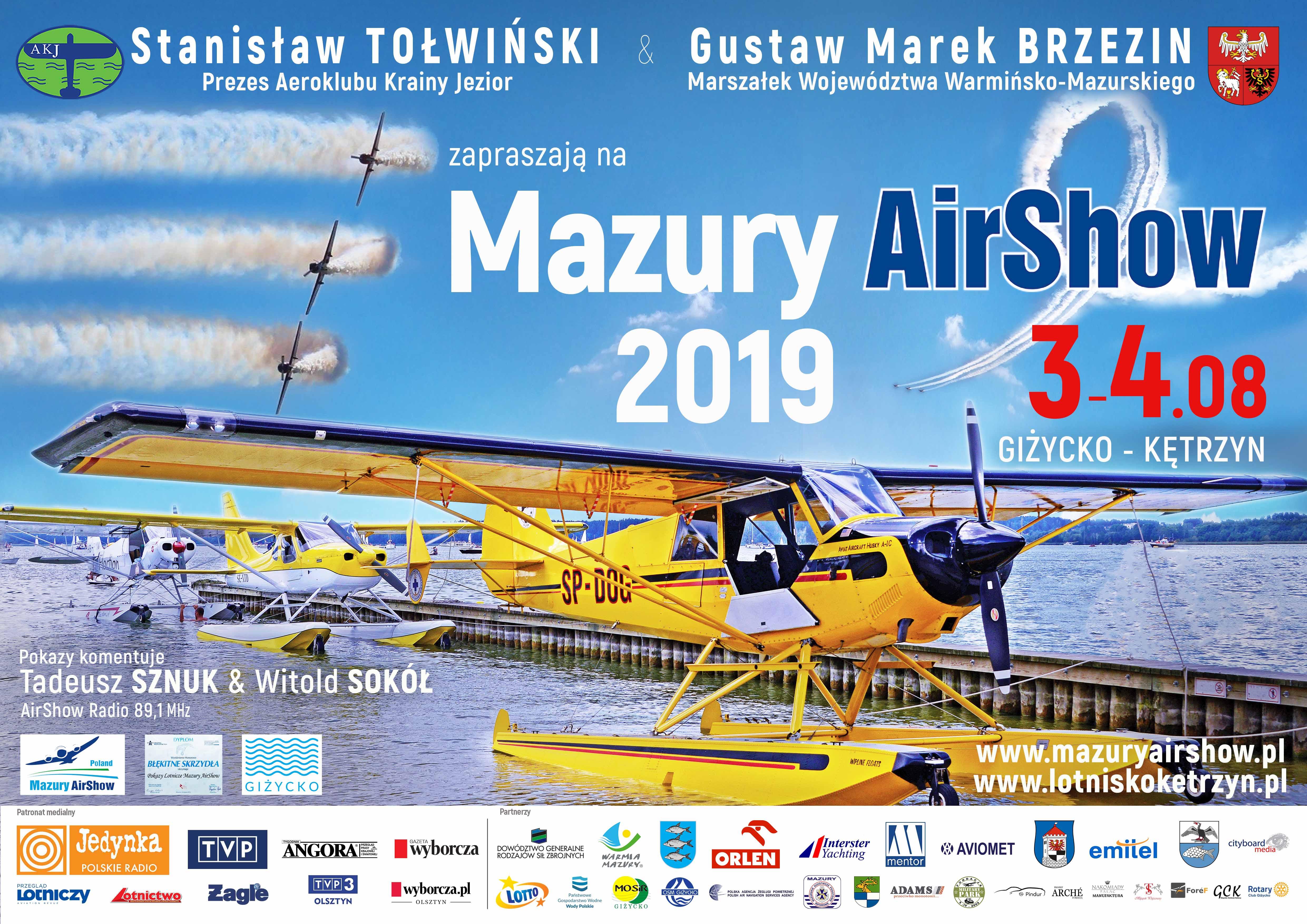 Ilustracja do informacji: ZAPROSZENIE NA MAZURY AIRSHOW 2019