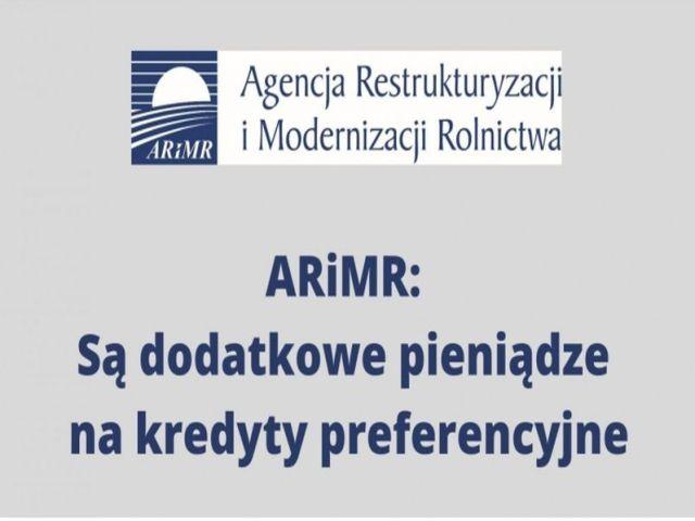 Ilustracja do informacji: ARIMR: SĄ DODATKOWE PIENIĄDZE NA KREDYTY PREFERENCYJNE