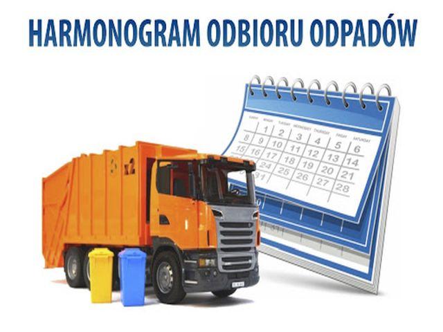 Ilustracja do informacji: HARMONOGRAM ODBIORU ODPADÓW KOMUNALNYCH (01.07.2020-31.12.2020)