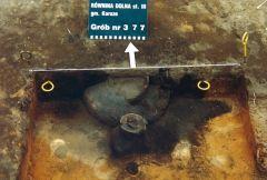 Miniatura zdjęcia: Urny popielcowe na cmenatrzu w Równinie Dolnej