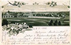 Miniatura zdjęcia: Najstarsza widokówka Korsz z zespołem dworca z 1900 r.